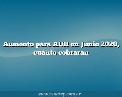 Aumento para AUH en Junio 2020, cuanto cobraran