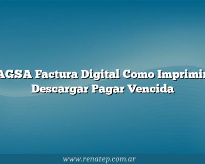 BAGSA Factura Digital Como Imprimir y Descargar  Pagar Vencida