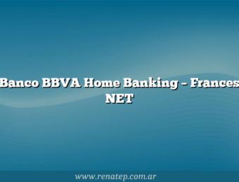 Banco BBVA Home Banking – Frances NET