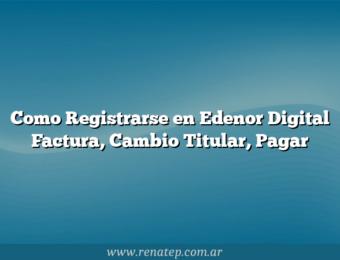 Como Registrarse en Edenor Digital  Factura, Cambio Titular, Pagar