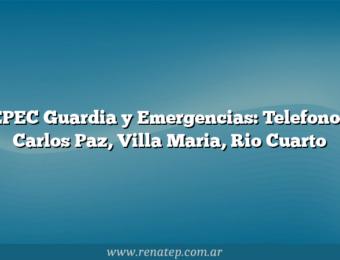 EPEC Guardia y Emergencias: Telefonos Carlos Paz, Villa Maria, Rio Cuarto