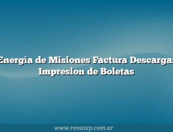 Energía de Misiones Factura Descargar Impresion de Boletas