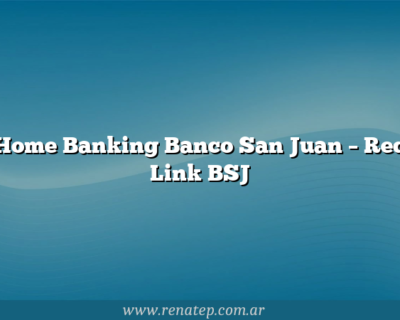 Home Banking Banco San Juan – Red Link BSJ