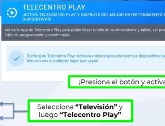 Cómo hago para contratar Telecentro Play online en Argentina