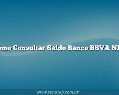 Cómo Consultar Saldo Banco BBVA NET
