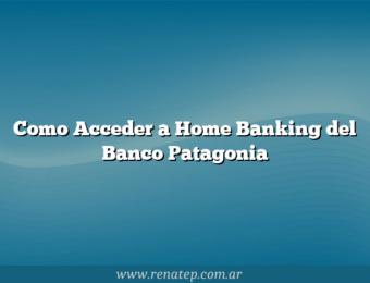 Como Acceder a Home Banking del Banco Patagonia