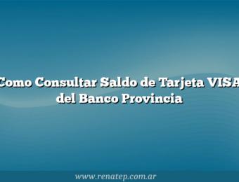 Como Consultar Saldo de Tarjeta VISA del Banco Provincia