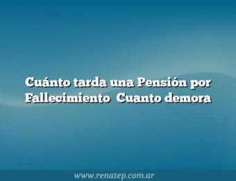 Cuánto tarda una Pensión por Fallecimiento   Cuanto demora