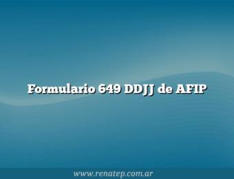 Formulario 649 DDJJ de AFIP