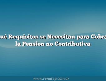 Qué Requisitos se Necesitan para Cobrar la Pension no Contributiva