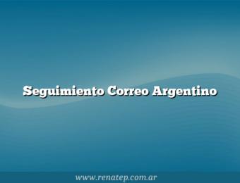 Seguimiento Correo Argentino